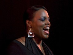 Dianne Reeves performing at The Apollo Theater in Harlem, New York